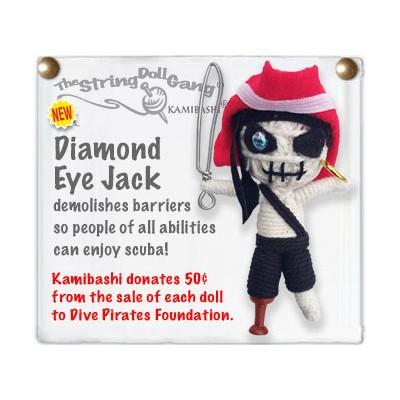 Diamond Eye Jack Key Chain