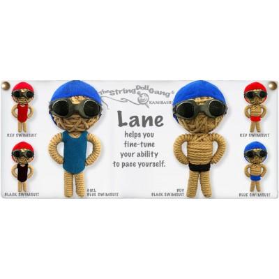 Lane Girl Blue Key Chain